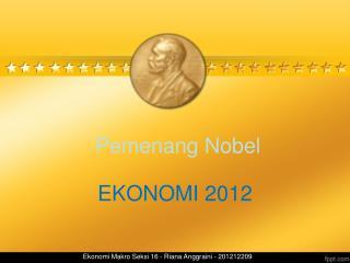 Pemenang  Nobel