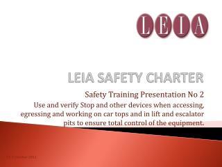 LEIA SAFETY CHARTER