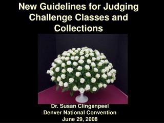 New Guidelines for Judging Challenge Classes and Collections