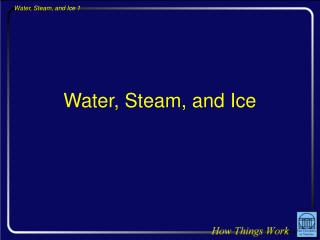 Water, Steam, and Ice