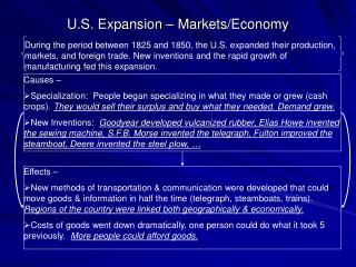 U.S. Expansion � Markets/Economy