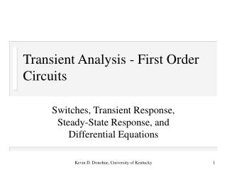 Transient Analysis - First Order Circuits