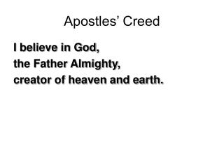 Apostles� Creed