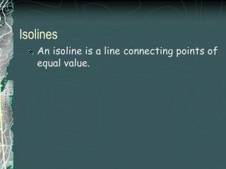 Isolines
