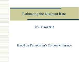 Estimating the Discount Rate