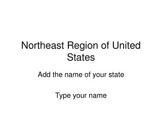Northeast Region of United States