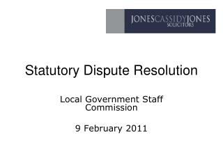 Statutory Dispute Resolution