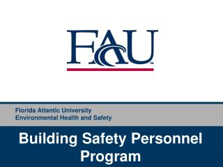 Florida Atlantic University Environmental Health and Safety