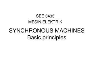 SEE 3433 MESIN ELEKTRIK