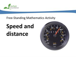 Speed and distance