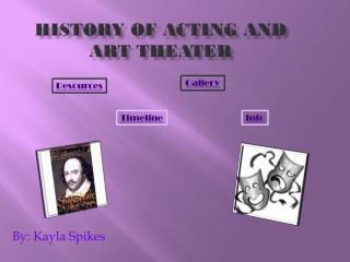 History  of acting and art theater