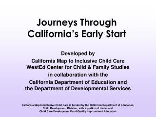 Journeys Through California's Early Start