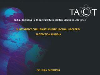 PAN  INDIA  OPERATIONS