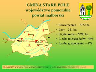 GMINA STARE POLE województwo pomorskie powiat malborski