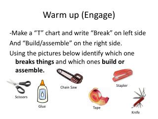 Warm up (Engage)