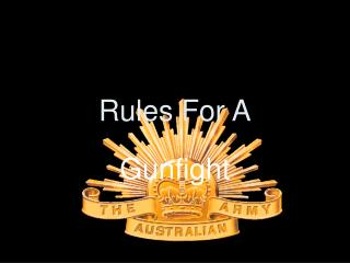 Rules For A