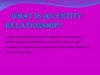 What  is an entity relationship?