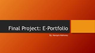 Final Project: E-Portfolio