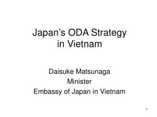 Japan's ODA Strategy  in Vietnam