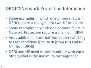 DRNI Network  Protection Interaction
