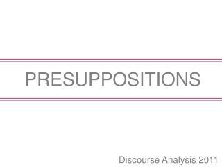 Discourse Analysis 2011