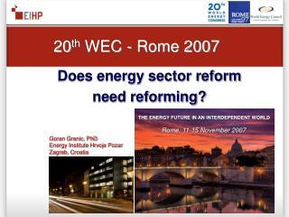 Rome ,  11-15 November 2007