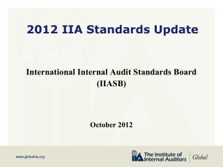 2012 IIA Standards Update