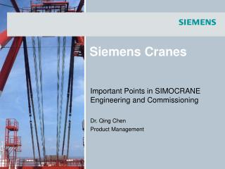 Siemens  Cranes