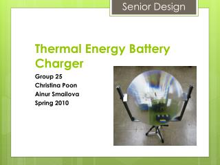 Thermal Energy Battery Charger