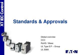 Standards & Approvals