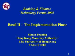 Banking & Finance Technology Forum 2005