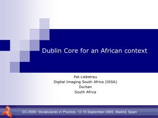Dublin Core for an African context