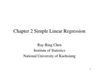Chapter 2 Simple Linear Regression