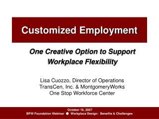 Customized Employment