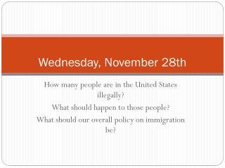 Wednesday, November 28th