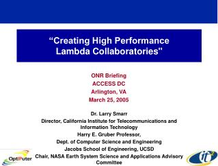 """Creating High Performance  Lambda Collaboratories"