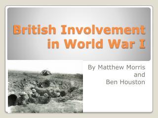 British Involvement in World War I