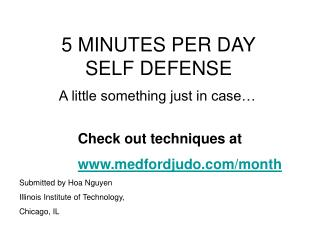 5 MINUTES PER DAY SELF DEFENSE