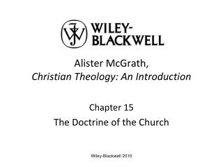 Alister McGrath,  Christian Theology: An Introduction