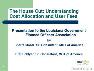 The House Cut: Understanding Cost Allocation and User Fees