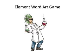 Element Word Art Game