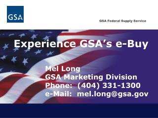 Experience GSA's e-Buy