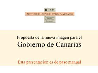 Concurso de ideas para la nueva imagen del Gobierno de Canarias