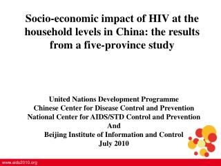 United Nations Development Programme Chinese Center for Disease Control and Prevention