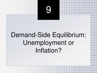 Demand-Side Equilibrium: Unemployment or Inflation?