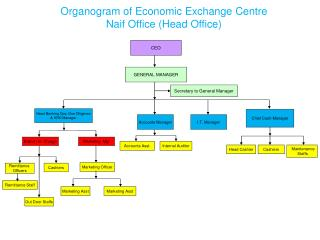Organogram of Economic Exchange Centre Naif Office (Head Office)