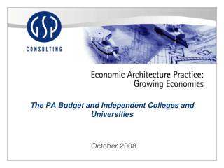 The PA Budget and Independent Colleges and Universities