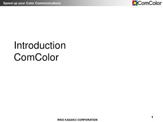 Introduction ComColor