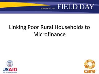 Linking Poor Rural Households to Microfinance