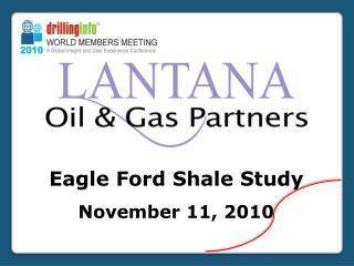 Eagle Ford  Shale Study